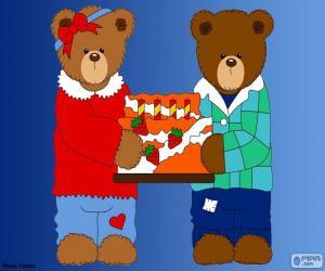 Puzle Písmeno H medvědů