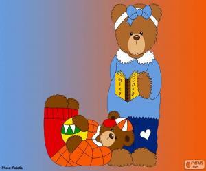 Puzle Písmeno J medvědů