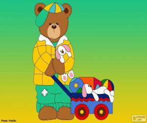 Puzle Písmeno L medvědů