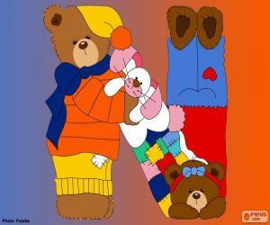 Puzle Písmeno N medvědů