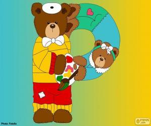 Puzle Písmeno P medvědů