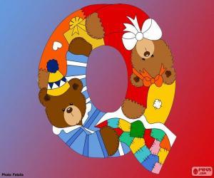 Puzle Písmeno Q medvědů