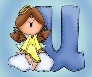 Puzle Písmeno U s andělem