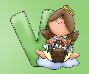 Puzle Písmeno v V s andělem