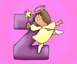 Puzle Písmeno Z s andělem