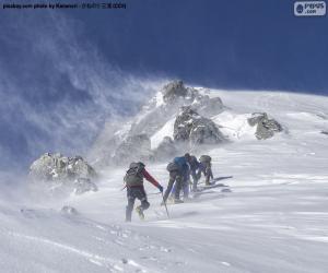 Puzle Pět horolezců