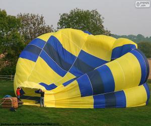 Puzle Příprava horkovzdušný balón