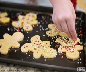 Puzle Příprava vánoční cukroví