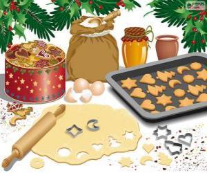 Puzle Příprava vánoční sušenky