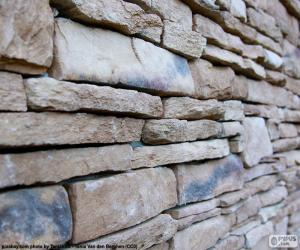 Puzle Přírodní kamenná zeď