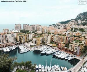 Puzle Přístav Fontvieille, Monako