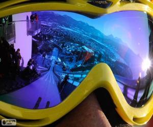 Puzle Připraveni na skoky na lyžích