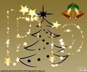 Puzle P vánoční dopis