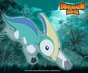 Puzle Paříž, Parapara. Parasaurolophus dinosaura, vlastněný Zoe od týmu-D