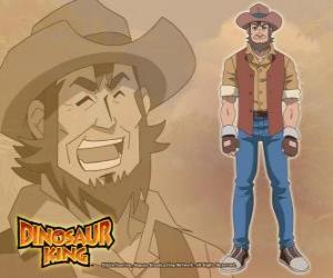 Puzle Paleontolog Dr. Spike Taylor, Dr. Kenryu Kodai. Maxův otec je posedlý dinosaury