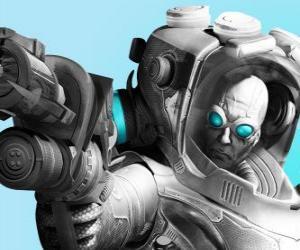 Puzle Pan Freeze s jeho chladné zbraně. Zlo vědec je nepřítel Batman