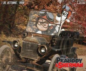 Puzle Pan Peabody a Sherman v jeho cestě do roku 1908