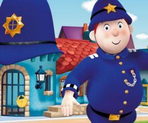 Puzle Pan policista se trmácet města hračky