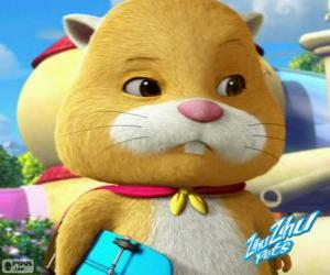 Puzle Pan Squiggles na sobě pláštěnku