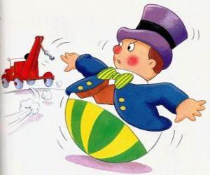 Puzle Pan Wobbly, zábavný malý muž s kulatou základnou, která nemůže lhát
