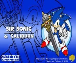 Puzle Pane Sonic, Sonic s mečem rytíř