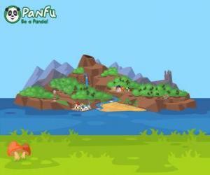 Puzle Panfu ostrov