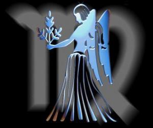 Puzle Panna. Panna. Šesté znamení zvěrokruhu. Latinský název je Virgo