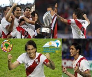 Puzle Paolo Guerrero nejlepší střelec v Copa America 2011