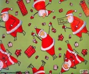 Puzle Papír, Santa Claus