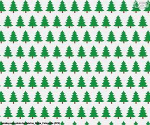 Puzle Papírové vánoční stromky
