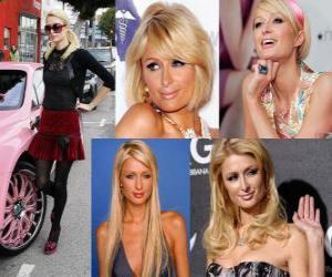 Puzle Paris Hilton je prominent, autor, model, herečka, návrhářka a zpěvák.