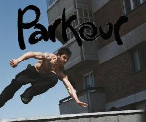 Puzle Parkour je způsob, jak předurčení těla a mysli tím, naučit se překonávat překážky rychle a efektivně