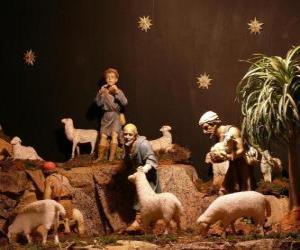 Puzle Pastýři zrození znaků