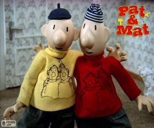 Puzle Pat a Mat, dva přátelé