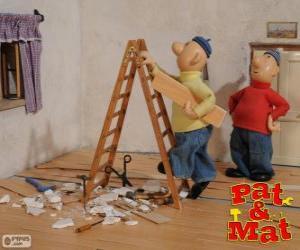 Puzle Pat a Mat práce