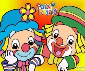 Puzle Patati a Patatá, dva klauni jsou velcí přátelé
