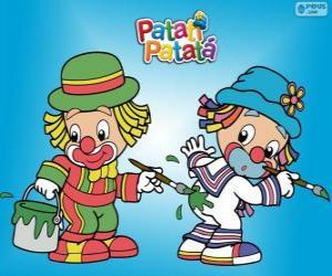 Puzle Patati Patatá klauni, dva malíři