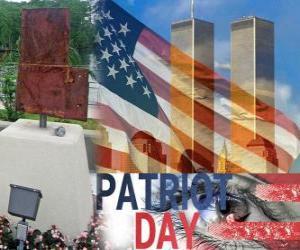 Puzle Patriot dne 11. září ve Spojených státech, v upomínku na útoky z 11.září 2001