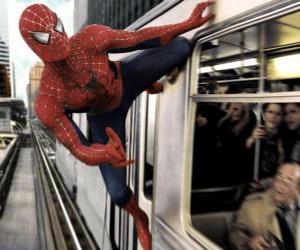 Puzle Pavoučí muž v akci