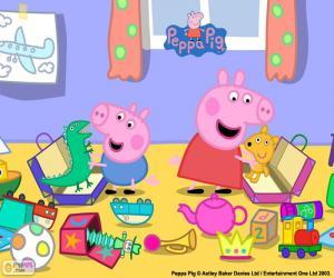 Puzle Peppa Pig a George