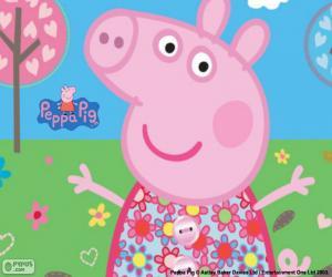 Puzle Peppa Pig květinové šaty