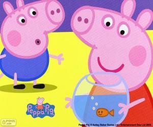 Puzle Peppa Pig maskot
