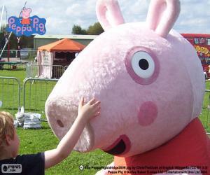 Puzle Peppa Pig s dítětem