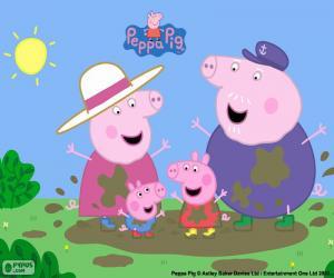 Puzle Peppa Pig s prarodiči