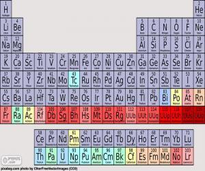 Puzle Periodická tabulka