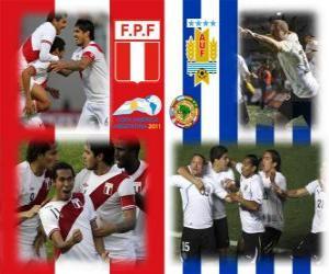 Puzle Peru - Uruguay, semi-finále, Copa América Argentina 2011