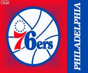 Puzle Philadelphia logo 76ers, Sixers, NBA tým. Atlantická Divize, Východní konference