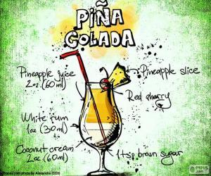 Puzle Piña colada recept