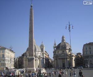 Puzle Piazza del Popolo, Řím