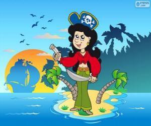 Puzle Pirát žena